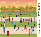 families in park | Shutterstock .eps vector #1178916451