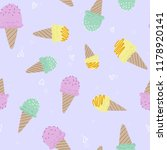 illustration of cute ice cream... | Shutterstock . vector #1178920141