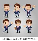 men with different poses | Shutterstock .eps vector #1178923201