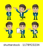 men with different poses | Shutterstock .eps vector #1178923234