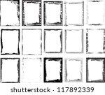 grunge borders | Shutterstock .eps vector #117892339
