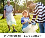 kids picking up trash in the... | Shutterstock . vector #1178928694