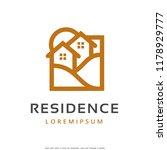 residence logo template design...   Shutterstock .eps vector #1178929777