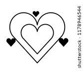 hearts love valentines card | Shutterstock .eps vector #1178946544