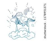 degraded outline sleeping boy... | Shutterstock .eps vector #1178951371