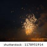 night cityscape fireworks | Shutterstock . vector #1178951914