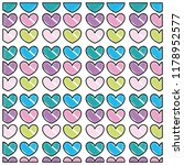 scribbled nice hearts shapes... | Shutterstock .eps vector #1178952577