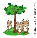nice deers friends animals and...   Shutterstock .eps vector #1178955151