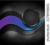 abstract blue violet wave and... | Shutterstock .eps vector #1178958601