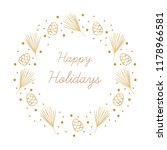 vector holiday card. happy... | Shutterstock .eps vector #1178966581