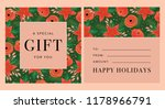 floral gift card design in... | Shutterstock .eps vector #1178966791