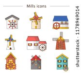 vector illustration with set of ... | Shutterstock .eps vector #1178969014