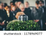 a metal urn with ashes of a... | Shutterstock . vector #1178969077