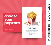 choose your popcorn box ux ui... | Shutterstock .eps vector #1178971291