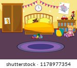 interior of childs bedroom... | Shutterstock .eps vector #1178977354