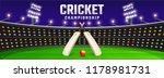 cricket championship banner... | Shutterstock .eps vector #1178981731