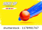 cricket cup championship banner ... | Shutterstock .eps vector #1178981767