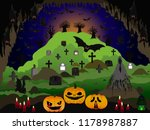 halloween night at the cave | Shutterstock . vector #1178987887