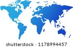 simple world map | Shutterstock .eps vector #1178994457