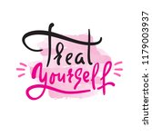 treat yourself   inspire and... | Shutterstock .eps vector #1179003937