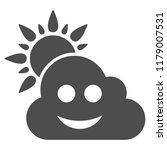 smile weather vector pictogram. ... | Shutterstock .eps vector #1179007531
