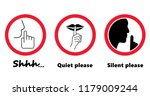 silhouette of please be quiet...   Shutterstock .eps vector #1179009244