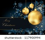 christmas  background gold and... | Shutterstock .eps vector #117900994