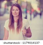 closeup face of romantic girl... | Shutterstock . vector #1179014137