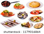 collage of delicious cooked... | Shutterstock . vector #1179016864
