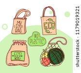 hand drawn elements of zero... | Shutterstock .eps vector #1179019321