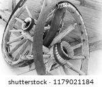 Broken Wooden Wagon Wheels
