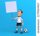 fun football player   3d...   Shutterstock . vector #1179024967