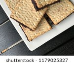plate of homemade biscuits with ... | Shutterstock . vector #1179025327