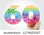 happy 60th birthday word cloud... | Shutterstock . vector #1179025537