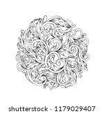 black and white baroque pattern ...   Shutterstock .eps vector #1179029407