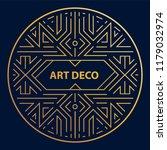 vector art deco linear circle ... | Shutterstock .eps vector #1179032974