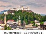 view to hohensalzburg fortress... | Shutterstock . vector #1179040531