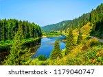green forest river landscape....   Shutterstock . vector #1179040747