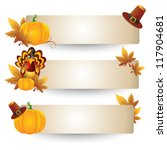 thanksgiving banners | Shutterstock .eps vector #117904681