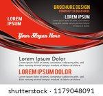 flyer or brochure template ... | Shutterstock .eps vector #1179048091