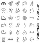 thin line vector icon set  ... | Shutterstock .eps vector #1179057604