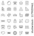 thin line vector icon set  ... | Shutterstock .eps vector #1179059461