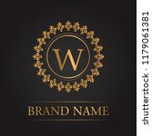 luxury gold template monogram | Shutterstock .eps vector #1179061381