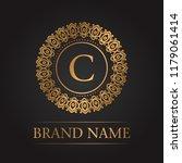 luxury gold template monogram | Shutterstock .eps vector #1179061414
