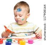 portrait of a cute little boy... | Shutterstock . vector #117908164