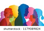 talking crowd. dialogue between ... | Shutterstock .eps vector #1179089824