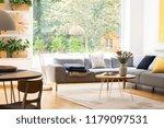 view of the backyard through a... | Shutterstock . vector #1179097531