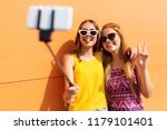 fashion  leisure and people... | Shutterstock . vector #1179101401