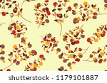 autumn seamless pattern with...   Shutterstock .eps vector #1179101887
