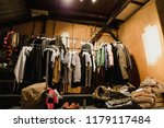 pop up dressing room with... | Shutterstock . vector #1179117484